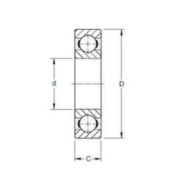 Timken 9115K deep groove ball bearings