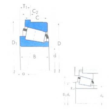 Timken 3382/3320B tapered roller bearings