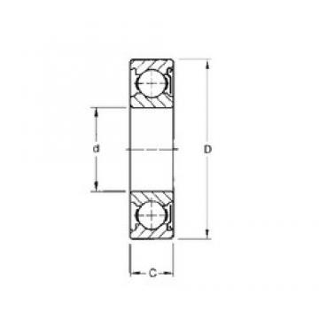 Timken 34KD deep groove ball bearings