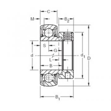 Timken GRA100RRB deep groove ball bearings