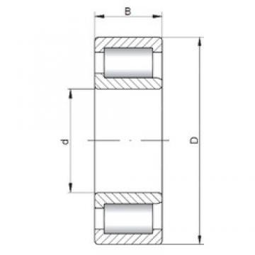 ISO NJF2308 V cylindrical roller bearings