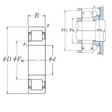 NSK NJ2214 ET cylindrical roller bearings