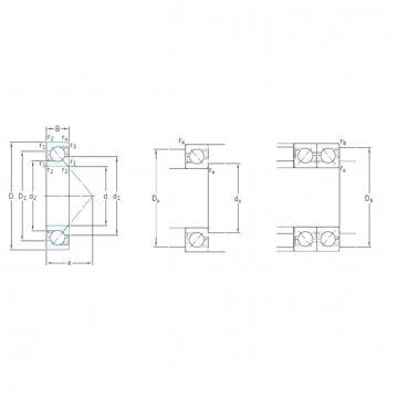 SKF 7309BEP angular contact ball bearings