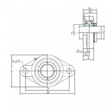 KOYO UKFL311 bearing units