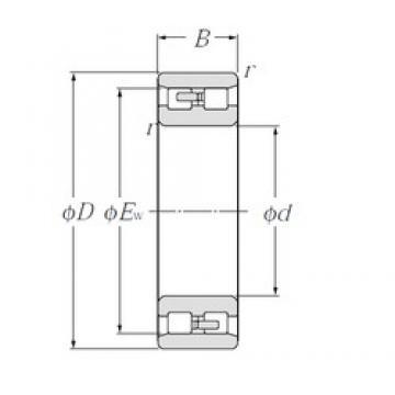 NTN NN3038 cylindrical roller bearings