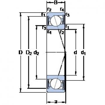 SKF S71919 CE/P4A angular contact ball bearings