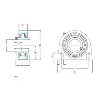 SKF SYF 50 FM bearing units
