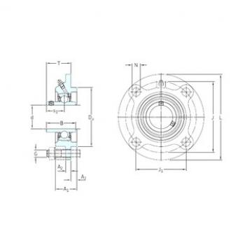 SKF FYC 55 TF bearing units