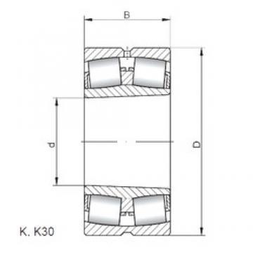 ISO 23936 KW33 spherical roller bearings