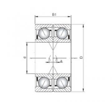 ISO 7415 BDF angular contact ball bearings