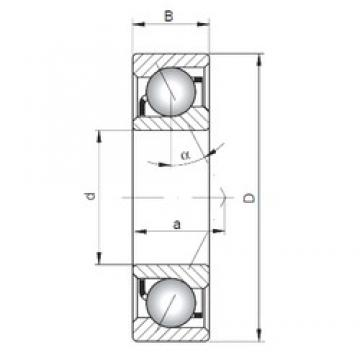 ISO 7304 A angular contact ball bearings