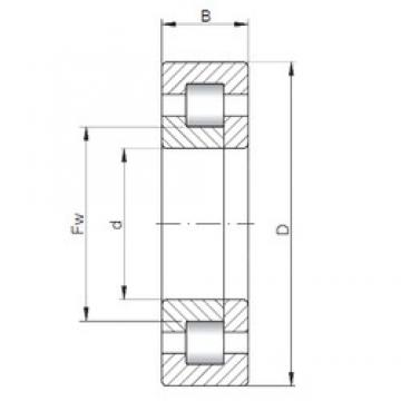 ISO NUP1080 cylindrical roller bearings
