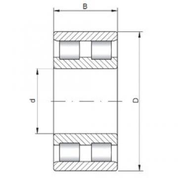 ISO NN3096 cylindrical roller bearings