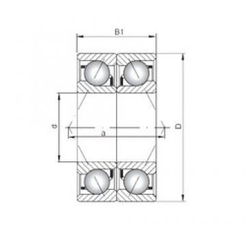 ISO 71908 CDB angular contact ball bearings