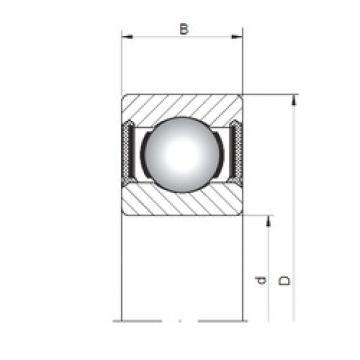 ISO 618/8-2RS deep groove ball bearings