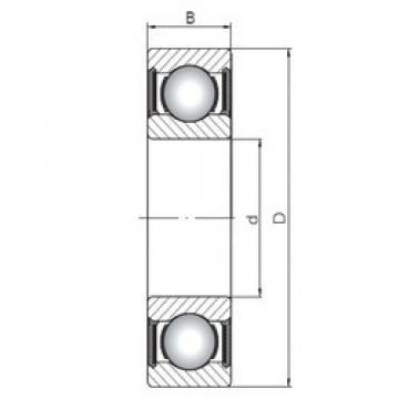 ISO 6304-2RS deep groove ball bearings