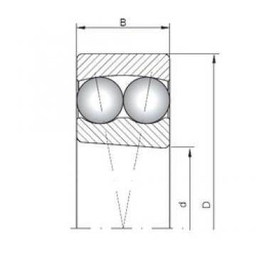 ISO 2207K self aligning ball bearings