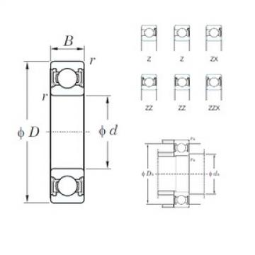 KOYO 6228ZZX deep groove ball bearings