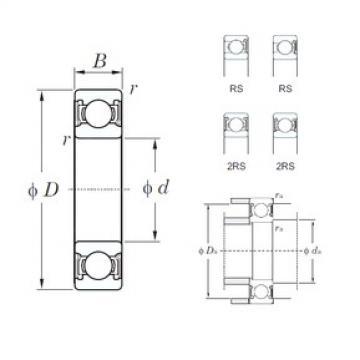 KOYO 6312-2RS deep groove ball bearings