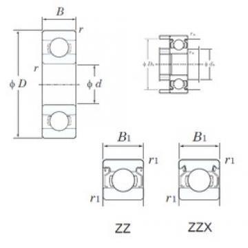KOYO 634ZZ deep groove ball bearings