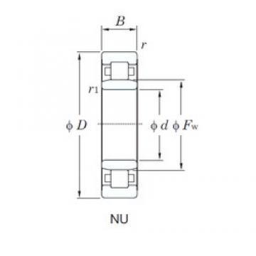 KOYO NU2316 cylindrical roller bearings