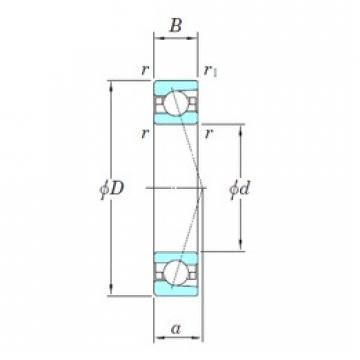 KOYO 3NCHAC000CA angular contact ball bearings