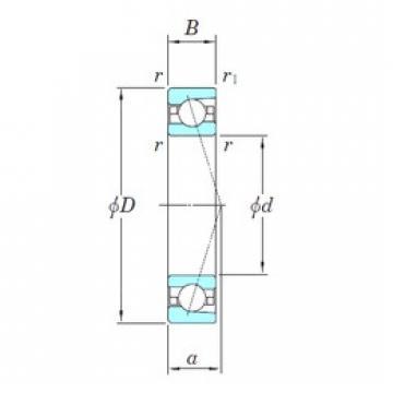 KOYO 3NCHAC014CA angular contact ball bearings
