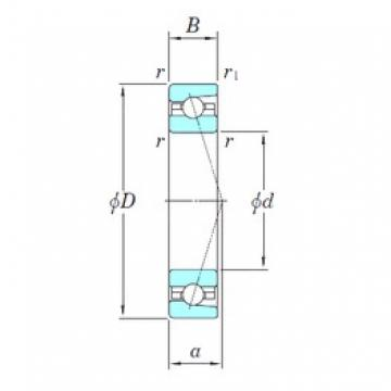KOYO 3NCHAC934CA angular contact ball bearings