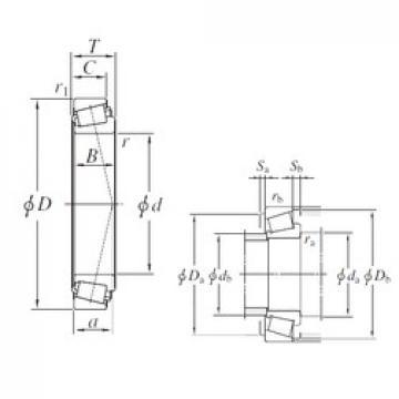 KOYO EE222070/222126 tapered roller bearings