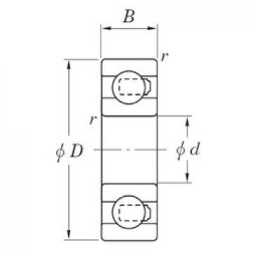 KOYO 3NC607MD4 deep groove ball bearings