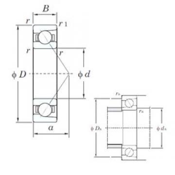 KOYO 7409B angular contact ball bearings