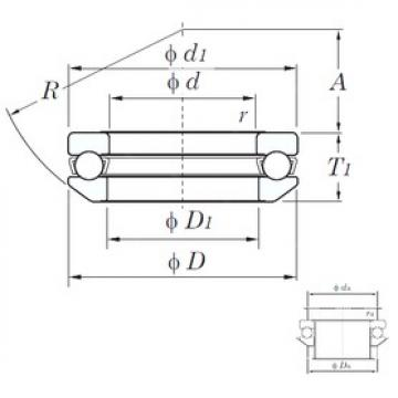 KOYO 53209 thrust ball bearings