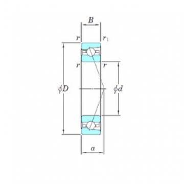 KOYO HAR928CA angular contact ball bearings
