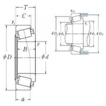 NSK L44643/L44610 tapered roller bearings