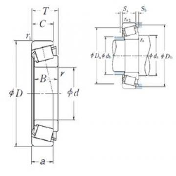 NSK 32968 tapered roller bearings