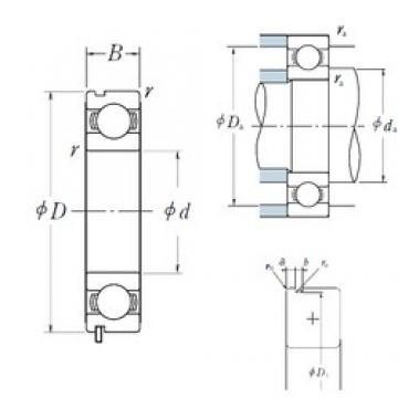 NSK 6026N deep groove ball bearings