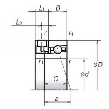 NSK 90BER19XE angular contact ball bearings