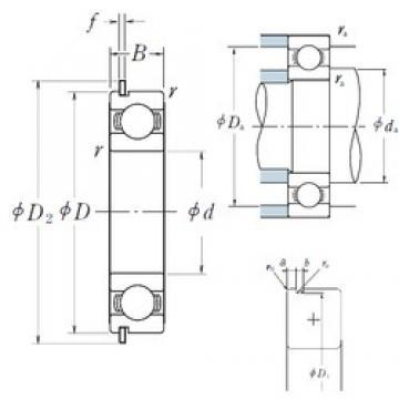 NSK 6922NR deep groove ball bearings