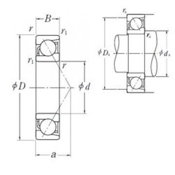 NSK 7334 A angular contact ball bearings