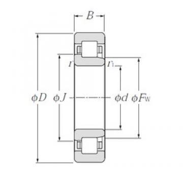 NTN NJ219E cylindrical roller bearings