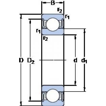 SKF W 61810-2RZ deep groove ball bearings