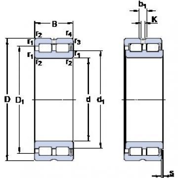 SKF NNCF 4848 CV cylindrical roller bearings