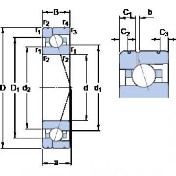 SKF 7007 ACE/HCP4AL1 angular contact ball bearings