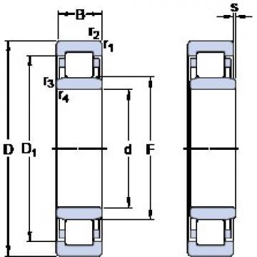 SKF NU 2311 ECP thrust ball bearings
