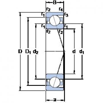 SKF 7212 CD/P4A angular contact ball bearings