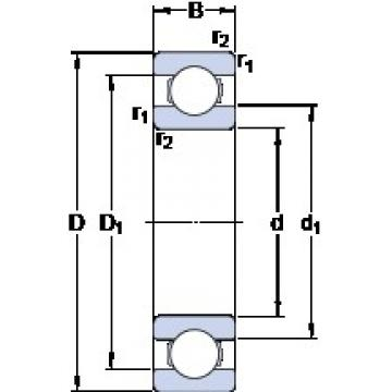 SKF 6056 M deep groove ball bearings