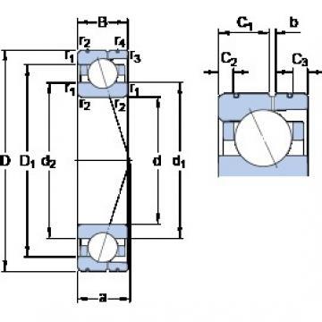 SKF 71911 CD/HCP4AL angular contact ball bearings