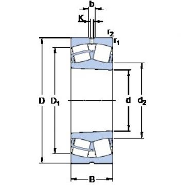 SKF 23038 CCK/W33 spherical roller bearings
