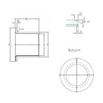 SKF PCMF 161817 E plain bearings