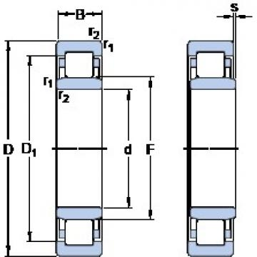 SKF NU 2092 ECMA thrust ball bearings